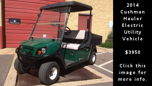 Used 2014 Cushman Hauler electric utility vehicle. $3,950. Click this image for more details.