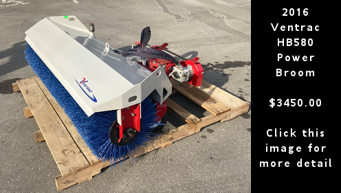 Used 2016 Ventrac HB580 Power Broom. $3450.00 Click this image for more detail.