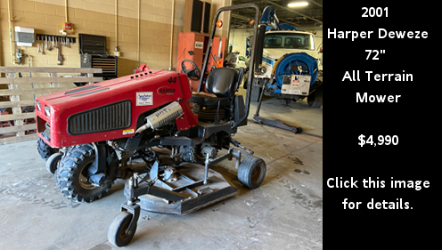 Used 2001 Harper Deweze All-Terrain Mower. Click this image for details.