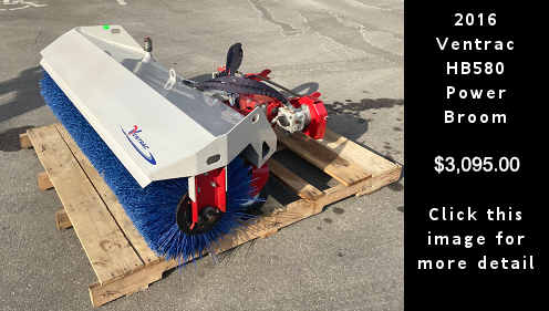Used 2016 Ventrac HB580 Power Broom. $3095.00 Click this image for more detail.