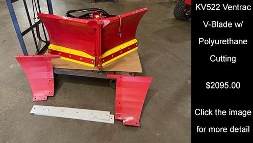 KV522 Ventrac V-Blade w/ Polyurethane Cutting. Click Image for more details.