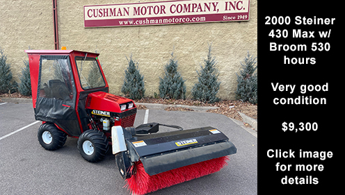 2000 Steiner 430 Max w/ Broom. Click image for more details.